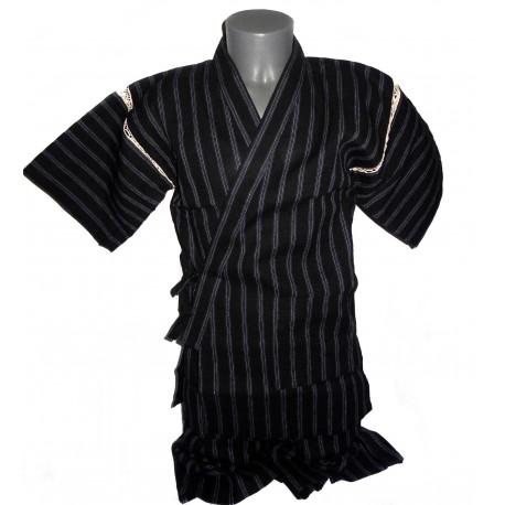 Tunique japonaise Jinbei 106 noir - Taille M - Coton