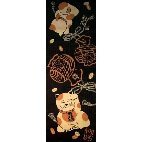 Tenugui - Maneki neko et uchide-no-kozuchi