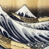 Polyester Noren - Hokusaï's Great Wave. Japanese curtains