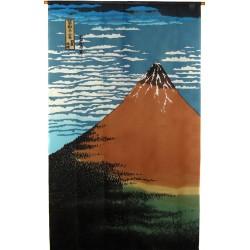 Polyester Noren - Hokusaï's Gaifû kaisei