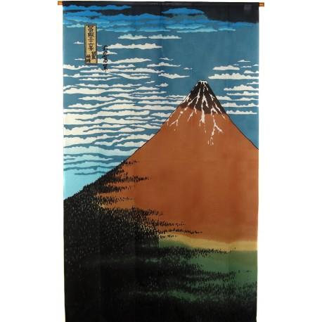 Polyester Noren - Hokusaï's Gaifû kaisei. Japanese curtains