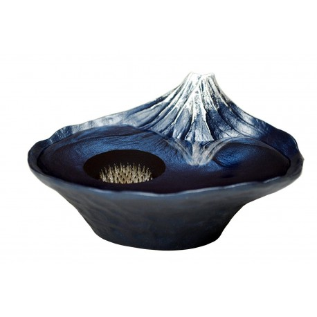 Vase Ikebana Sakasa Fuji - Bleu