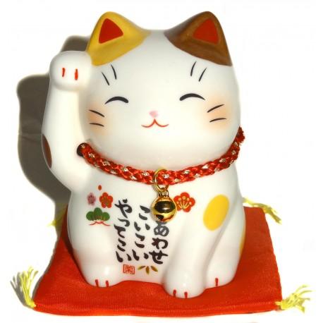 Maneki Neko patte droite - 9 cm. Chat porte-bonheur japonais.