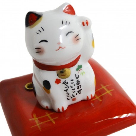 Maneki Neko lucky cat incense stick holder