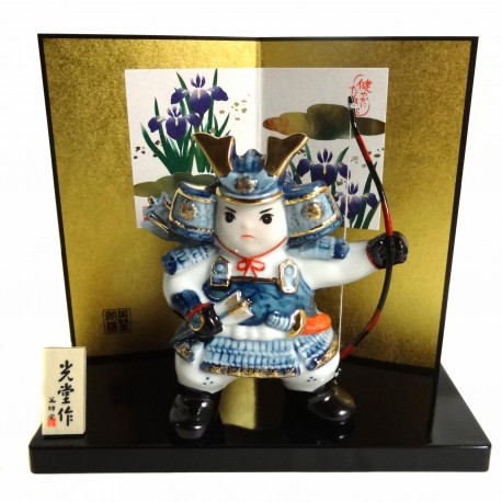 Archer samurai doll - Boys festival. Japanese decoration products.