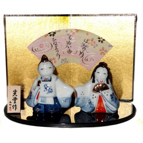 Couple impérial - Hinamatsuri Tachibina. Objets japonais de décoration.