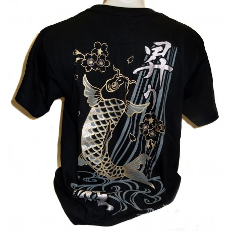 T-shirt - Black - Koi no Takinobori