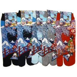 Tabi socks - Size 39 to 43 - Maiko and great wave