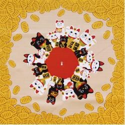Furoshiki tissu 50x50 crème - Maneki Neko