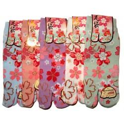 Chaussettes japonaises Tabi - Du 35 au 39 - Sakura