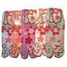 Chaussettes japonaises Tabi - Du 35 au 39 - Sakura. Chaussettes orteils japonaises.