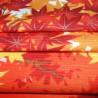 Furoshiki 50x50 crème - Momiji. Tissus et textile japonais