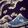 Furoshiki 50x50 pourpre - Nami Fuji. Tissus et textile japonais
