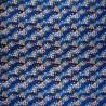Furoshiki 67x67 bleu - Sakura. Tissu japonais chirimen crêpe de rayonne