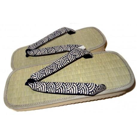 Setta paille de riz tressée - 30 cm. Zori sandales japonaises