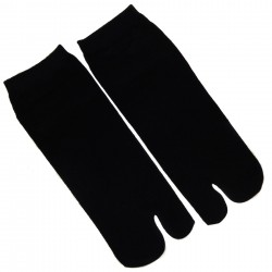Tabi socks - Size 35 to 39 - Solid black color