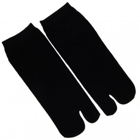 Chaussettes japonaises Tabi noires - Du 35 au 39. Chaussettes orteils