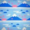 Furoshiki 70x70 - Mont Fuji et Sakura. Tissus et textile japonais