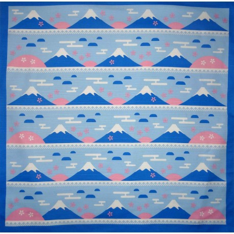 Furoshiki Japanese cloth 70x70 - Mount Fuji and Sakura prints