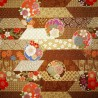 Japanese cloth 52x52 brown - Floral prints