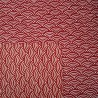 Japanese cloth 52x52 brick red - Seigaha prints
