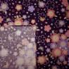 Carré de tissu japonais 52 x 52 pourpre - Sakura Chô