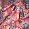 Carré de tissu japonais 52 x 52 rose - Sakura Chô