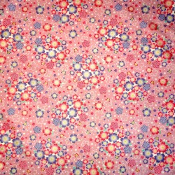 Carré de tissu 52 x 52 rose - Sakura Chô