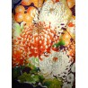 Furisode kimono - Shiborizome - Floral and clouds motifs