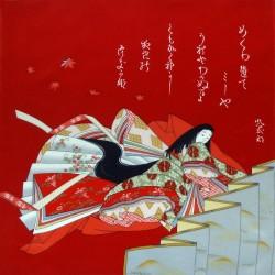 Furoshiki 67x67 rouge - Motif de Hime