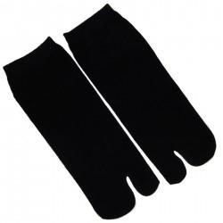 Chaussettes japonaises tabi noires - Du 43 au 46