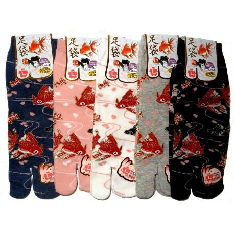 Tabi socks - Size 39 to 43 - Kingyo prints. Split toes socks