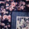 Japanese Furoshiki cloth 50x50 - Sakura Tsukiyo. Reusable gift wrapping fabric.