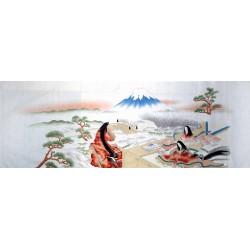 Tenugui Collection Ukiyoe - Hime