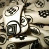 Japanese cloth 52x52 off-white - Kamon prints. Gift wrapping cloth.