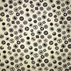 Carré de tissu 52 x 52 blanc cassé - Motifs de Kamon