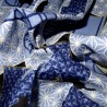 Japanese cloth 52x52 blue - Cats prints. Gift wrapping cloth.