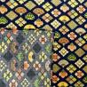 Carré de tissu japonais 52 x 52 bleu - Motifs Ôgimon. Emballage cadeaux en tissu.