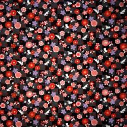 Japanese cloth 52x52 black - Sakura Usagi