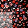 Japanese cloth 52x52 black - Sakura Usagi. Gift wrapping cloth.