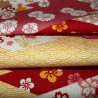 Carré de tissu japonais 52 x 52 Motifs floraux. Emballage cadeaux en tissu.