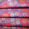 Carré de tissu japonais 52 x 52 parme - Sakura. Emballage cadeaux en tissu.