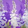 Furoshiki tissu japonaise 50x50 lavende - Glycines. Emballage cadeaux réutilisable en tissu.