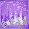 Japanese Furoshiki cloth 50x50 lavender - Wisteria. Reusable gift wrapping fabric.