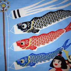 Furoshiki tissu 50x50 - Koinobori et Kintaro