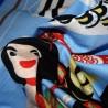 Furoshiki tissu japonaise 50x50 - Koinobori et Kintaro. Emballage cadeaux réutilisable en tissu.