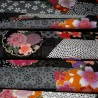 Japanese cloth 52x52 black - Sakura Yukata. Gift wrapping cloth.