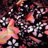Carré de tissu japonais 52 x 52 noir - Sakura. Emballage cadeaux en tissu.