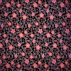 Carré de tissu 52 x 52 noir - Sakura