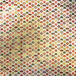 Carré de tissu 52 x 52 écru - Motifs Ôgimon